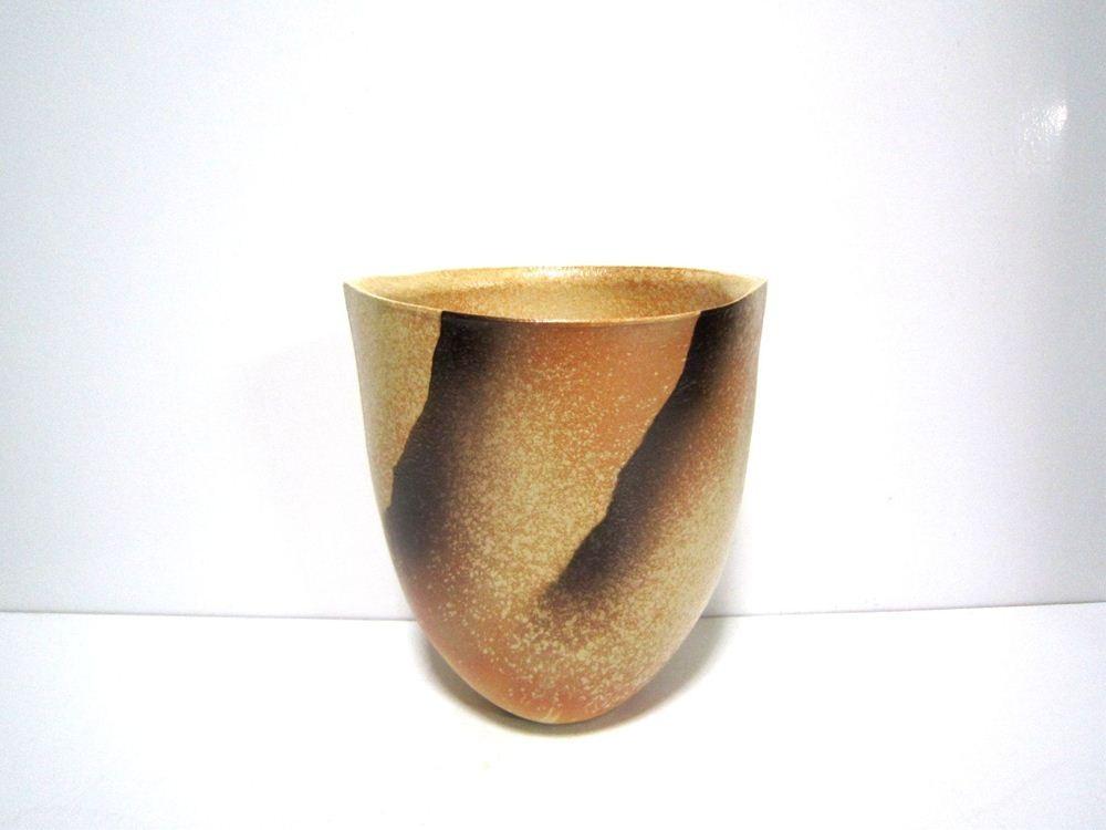 画像1: 特-196 手造り焼〆壺型花器 特-196 手造り焼〆壺型花器 - 花器ギャラリー 裕