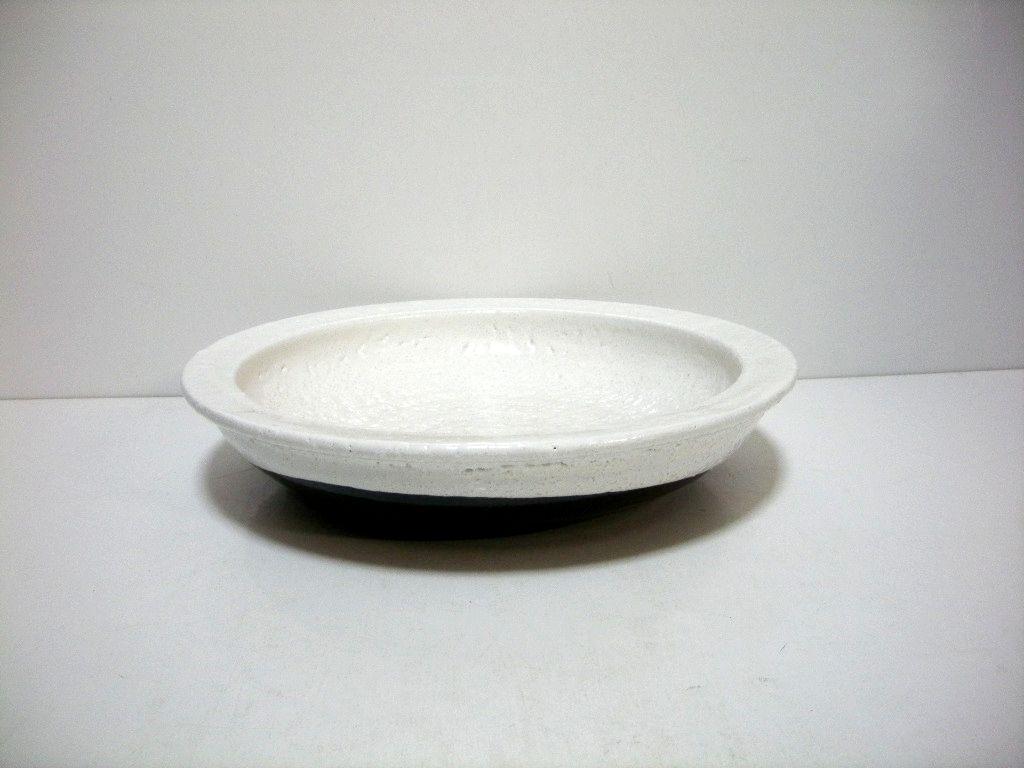 手造り 白釉10号石皿 T-22 ...