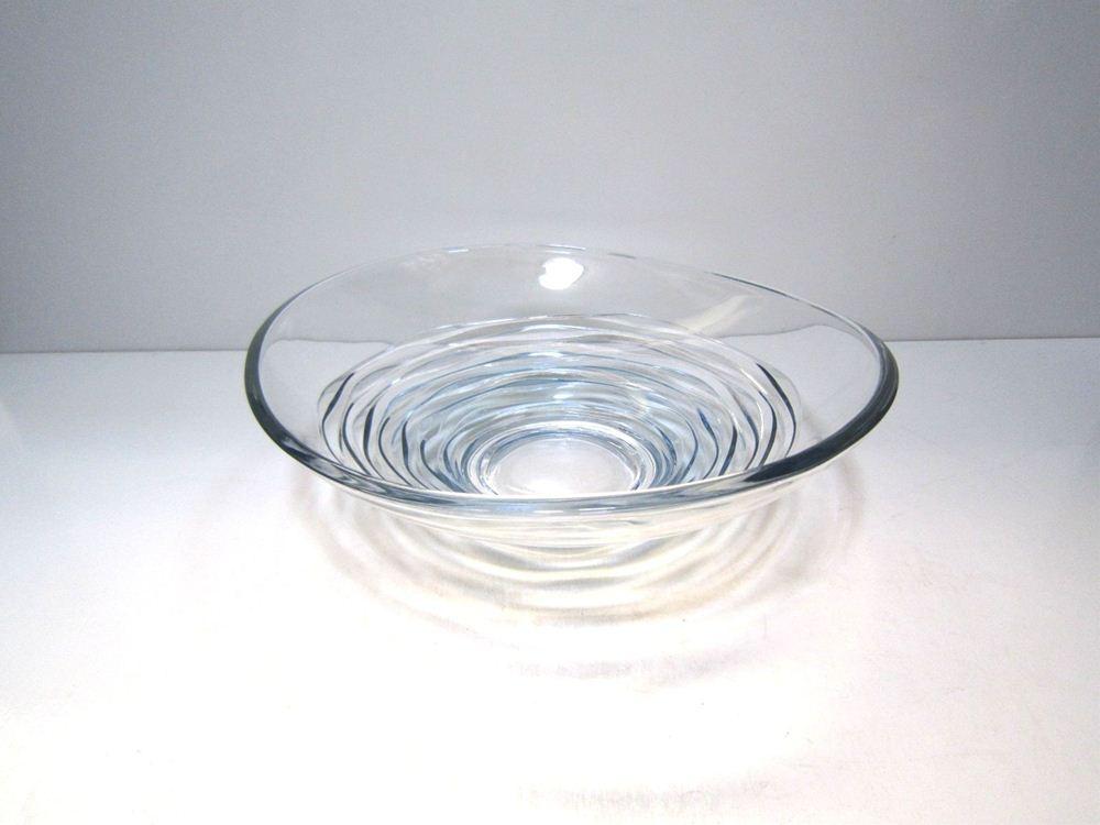 ガラス花器 クリア波紋水盤 CG-23                                    [CG-23]